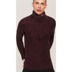Melanżowy sweter - Bordowy. Szare swetry klasyczne męskie marki House, l, z bawełny. Za 99,99 zł.