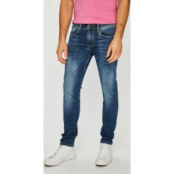 Pepe Jeans - Jeansy Finsbury. Niebieskie jeansy męskie regular Pepe Jeans, z bawełny. Za 399,90 zł.
