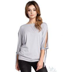 Bluzki asymetryczne: Bluzka rozcięte rękawy bee-036