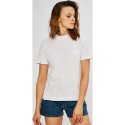 Calvin Klein Jeans - Top. Szare topy damskie marki Calvin Klein Jeans, l, z bawełny, z okrągłym kołnierzem. W wyprzedaży za 139,90 zł.