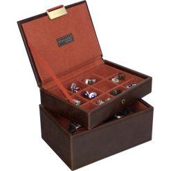 Zegarki męskie: Pudełko na spinki i zegarki Stackers brązowo-pomarańczowe