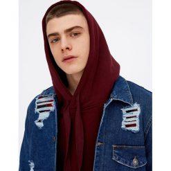 Jeansowa kurtka z przetarciami. Niebieskie kurtki męskie jeansowe marki Reserved, l. Za 96,90 zł.