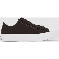 Trampki CTAS II Kids. Czarne buty sportowe dziewczęce Converse, na sznurówki. Za 176,36 zł.