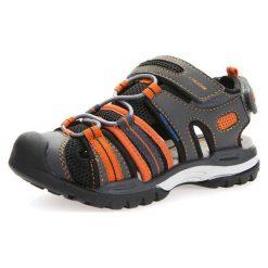 GEOX Kids Buty otwarte 'J Borealis'  ciemnoszary / pomarańczowy / czarny. Brązowe buciki niemowlęce chłopięce geox kids, z gumy, z otwartym noskiem, na rzepy. Za 121,80 zł.