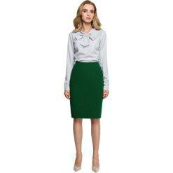 Zielona Klasyczna Ołówkowa Spódnica z Modelującymi Przeszyciami. Zielone spódnice wieczorowe Molly.pl, l, w paski, dopasowane. Za 89,90 zł.