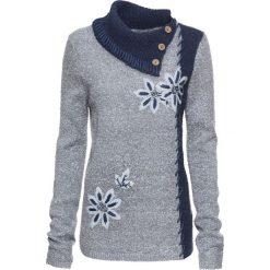 Sweter bonprix jasnoszaro-niebieski. Szare swetry klasyczne damskie bonprix. Za 59,99 zł.