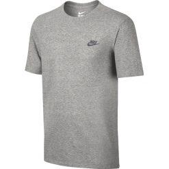 Nike Club Embroidery Futura T-Shirt 827021-063. Szare t-shirty męskie Nike, l, z bawełny. W wyprzedaży za 69,99 zł.