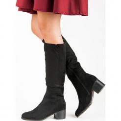 WYGODNE CZARNE KOZAKI. Czarne buty zimowe damskie Super Mode. Za 115,00 zł.
