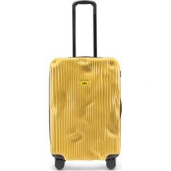 Walizka Stripe średnia Mustard Yellow. Szare walizki marki Crash Baggage, z materiału. Za 1225,00 zł.