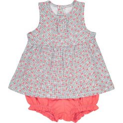 Komplet koszulka i spodenki,1 miesiąc - 3 latka, Oeko Tex. Czerwone bluzki dziewczęce marki La Redoute Collections, z bawełny. Za 35,24 zł.