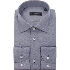 Koszula Grafitowa Owen. Szare koszule męskie na spinki marki LANCERTO, m, z bawełny. W wyprzedaży za 149,90 zł.