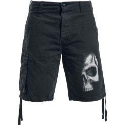 Spiral Shadow Skull Krótkie spodenki Vintage czarny. Czarne spodenki i szorty męskie marki Spiral, z nadrukiem, vintage. Za 121,90 zł.