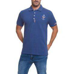 Koszulka polo w kolorze niebieskim. Niebieskie koszulki polo Camel Active, Varsity, l. W wyprzedaży za 82,95 zł.