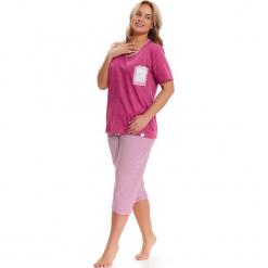 Piżama w kolorze różowo-białym - t-shirt, spodnie. Białe piżamy damskie Doctor Nap, l, w paski. W wyprzedaży za 72,95 zł.