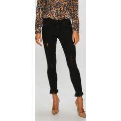 Only - Jeansy. Szare jeansy damskie rurki marki ONLY, s, z bawełny, z okrągłym kołnierzem. W wyprzedaży za 99,90 zł.