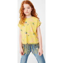 Bluzki dziewczęce bawełniane: Mango Kids - Top dziecięcy Texasban 104-164 cm