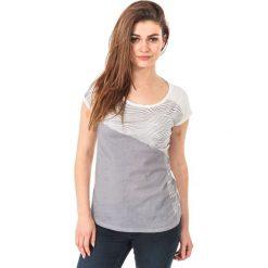 Bluzki asymetryczne: IGUANA Koszulka damska Unathi W Sleet/ Optical Print r. L
