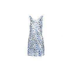 Sukienki krótkie Majestic  CALIXTE. Niebieskie sukienki mini Majestic, z krótkim rękawem. Za 423,20 zł.