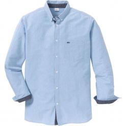 Koszula z długim rękawem i haftem Regular Fit bonprix niebieski. Białe koszule męskie marki bonprix, z klasycznym kołnierzykiem, z długim rękawem. Za 109,99 zł.