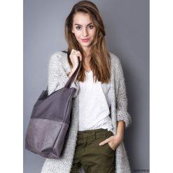 Torba duo gray. Szare torebki klasyczne damskie marki Pakamera, z materiału, duże. Za 109,00 zł.
