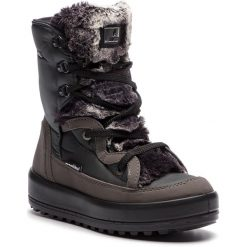 Śniegowce MANITU - 991220 Grau 9. Zielone buty zimowe damskie Manitu, z materiału. Za 399,00 zł.