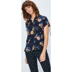 Medicine - Koszula Basic. Czarne koszule damskie MEDICINE, l, z tkaniny, casualowe, z klasycznym kołnierzykiem, z krótkim rękawem. W wyprzedaży za 49,90 zł.