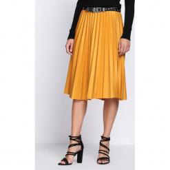 Żółta Spódnica Contradictions. Żółte spódniczki Born2be, uniwersalny, z elastanu, midi. Za 59,99 zł.