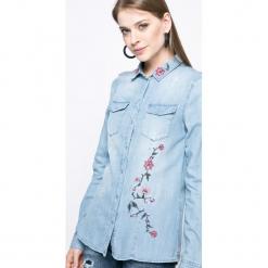 Vero Moda - Koszula. Szare koszule damskie marki Vero Moda, s, z bawełny, casualowe, z klasycznym kołnierzykiem, z długim rękawem. W wyprzedaży za 69,90 zł.