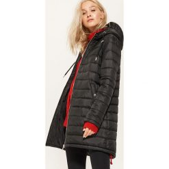 Pikowany płaszcz - Czarny. Czarne płaszcze damskie marki House, l. Za 259,99 zł.