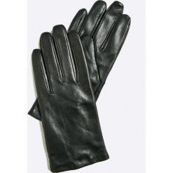 Vero Moda - Rękawiczki skórzane. Niebieskie rękawiczki damskie marki Vero Moda, z bawełny. Za 149,90 zł.