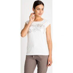 Bluzki asymetryczne: Biała bluzka z metalicznym wzorem QUIOSQUE