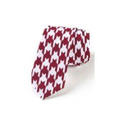 Krawat męski PEPITO BORDO. Czerwone krawaty męskie HisOutfit, z materiału. Za 129,00 zł.