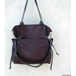 AMBER - duża torba - shopper - czarna. Czarne shopper bag damskie Pakamera, z tkaniny, na ramię, duże. Za 189,00 zł.