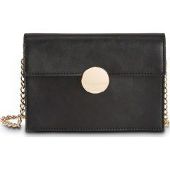 Mała torebka na ramię z okrągłym elementem bonprix czarno-złoty. Czarne torebki klasyczne damskie marki bonprix, małe. Za 44,99 zł.