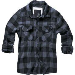 Brandit Checkshirt Koszula czarny/szary. Białe koszule męskie na spinki marki Brandit, l, z aplikacjami, z bawełny, z długim rękawem. Za 144,90 zł.