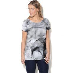 Colour Pleasure Koszulka damska CP-034  33 szaro-biało-czarna  r. XL-XXL. Białe bralety Colour pleasure, xl. Za 70,35 zł.