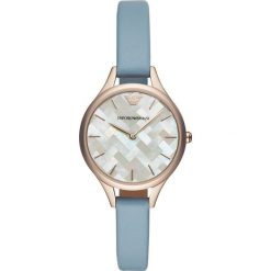 Emporio Armani Zegarek blau. Niebieskie, analogowe zegarki damskie Emporio Armani. Za 949,00 zł.