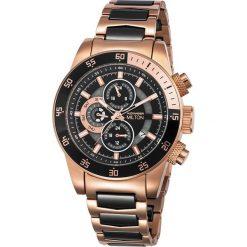 """Zegarki męskie: Zegarek kwarcowy """"Sigma"""" w kolorze czarno-różowozłotym"""