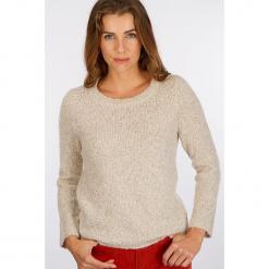 """Sweter """"Boupull"""" w kolorze szarobrązowym. Brązowe swetry klasyczne damskie Scottage, z wełny, z okrągłym kołnierzem. W wyprzedaży za 81,95 zł."""