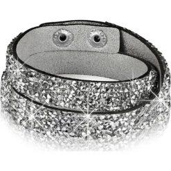 Bransoletki damskie: Bransoletka w kolorze srebrnym ze szklanymi kryształkami