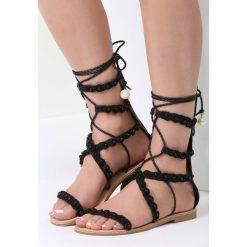 Czarne Sandały Passionate Move. Czarne sandały damskie marki vices, na płaskiej podeszwie. Za 79,99 zł.