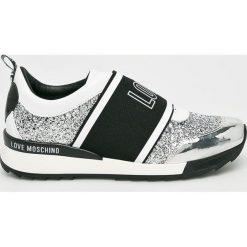 Love Moschino - Buty. Szare buty sportowe damskie marki Love Moschino, z materiału. W wyprzedaży za 639,90 zł.