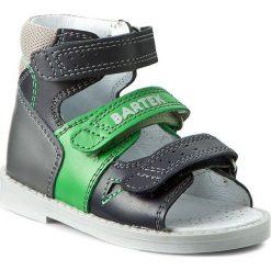 Sandały BARTEK - 81804-8/C40 Granatowy Szary. Niebieskie sandały męskie skórzane Bartek. W wyprzedaży za 169,00 zł.