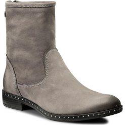 Botki CARINII - B4190 J51-000-PSK-C63. Szare buty zimowe damskie marki Carinii, z materiału, na obcasie. W wyprzedaży za 249,00 zł.