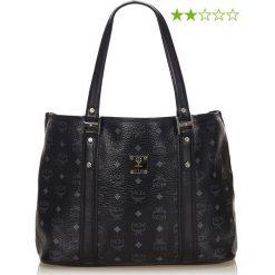 Shopper bag damskie: Skórzany shopper bag w kolorze czarnym - 37 x 27 x 14 cm