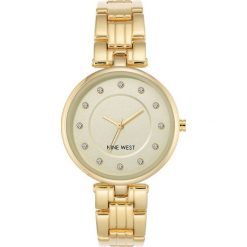 Zegarki damskie: Zegarek Nine West Damski NW/2100CHGB Fashion Cyrkonie złoty