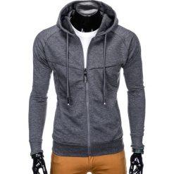Bluzy męskie: BLUZA MĘSKA ROZPINANA Z KAPTUREM B795 - GRAFITOWA