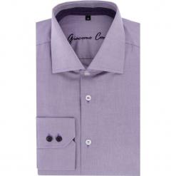 Koszula UGO 16-01-04. Fioletowe koszule męskie na spinki Giacomo Conti, m, z bawełny, z włoskim kołnierzykiem. Za 229,00 zł.