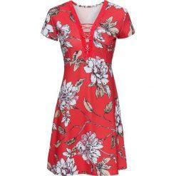 Sukienki: Sukienka bonprix czerwony w kwiaty