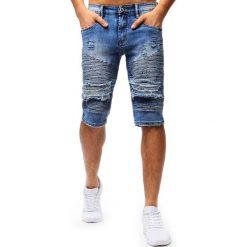 Spodenki i szorty męskie: Spodenki męskie jeansowe niebieskie (sx0669)